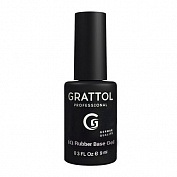 Каучуковая база Grattol IQ Rubber Base Gel (GTIQB1), 9 мл