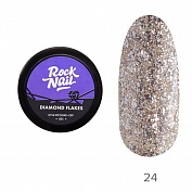 Гель-краска Diamond Flakes RockNail №24 (Antique), 5 г
