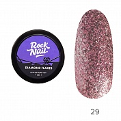 Гель-краска Diamond Flakes RockNail №29 (Rose Gold), 5 г